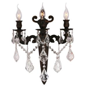 """Versailles - 15"""" Three Light Large Candle Wall Sconce"""