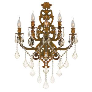 Versailles - Five Light 2-Tier Large Candle Wall Sconce