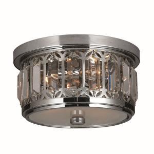 Parlour - Three Light Round Small Flush Mount