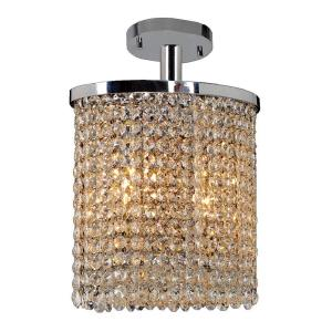Prism - Two Light Oval Small Semi-Flush Mount