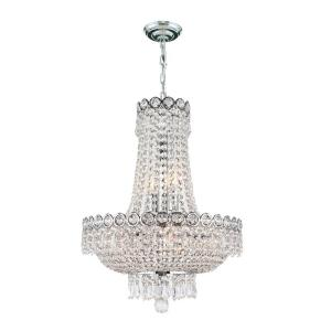 "Empire -14"" Eight Light Mini Chandelier"