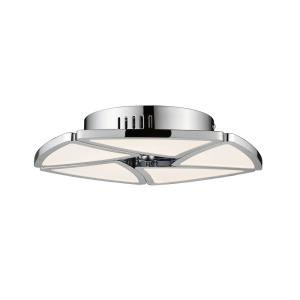 Aeon - 50W 1 LED Semi-Flush Mount in Fusion Style - 13 Inches Wide by 2.25 Inches High