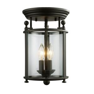 Wyndham - 3 Light Flush Mount in Gothic Style - 8.5 Inches Wide by 13.25 Inches High