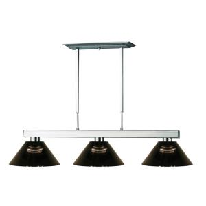 Players - 3 Light Island/Billiard in Billiard Style - 14 Inches Wide by 8 Inches High