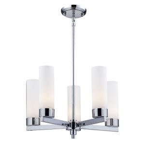 Ibis Chandelier 5 Light  Metal Matte Opal  Glass