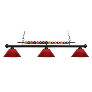 Shark - 3 Light Island/Billiard in Billiard Style - 16 Inches Wide by 15 Inches High