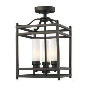 Altadore - 3 Light Semi-Flush Mount in Metropolitan Style - 10.63 Inches Wide by 17.13 Inches High