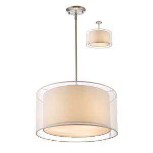 Sedona - 3 Light Convertible Pendant in Metropolitan Style - 18 Inches Wide by 57.48 Inches High