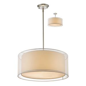 Sedona - 3 Light Convertible Pendant in Metropolitan Style - 24 Inches Wide by 58.48 Inches High