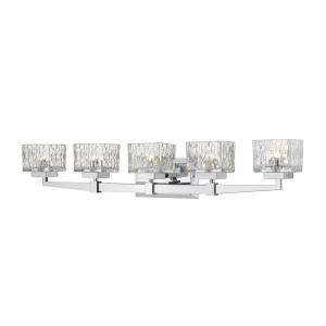 Rubicon - 5 Light Bath Vanity in Metropolitan Style - 36 Inches Wide by 6.5 Inches High