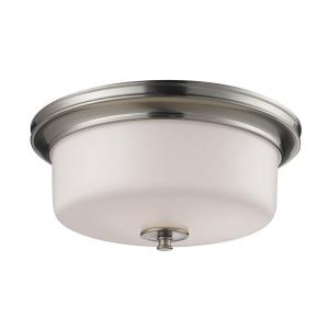 Cannondale - 3 Light Flush Mount in Fusion Style - 15 Inches Wide by 6.5 Inches High