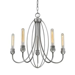 Persis - 5 Light Chandelier in Utilitarian Style - 22 Inches Wide by 22 Inches High
