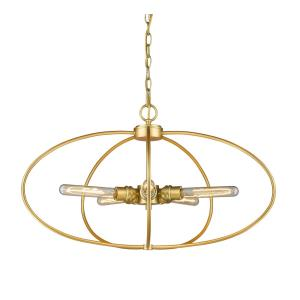 Persis - 5 Light Pendant in Metropolitan Style - 28.25 Inches Wide by 16.13 Inches High