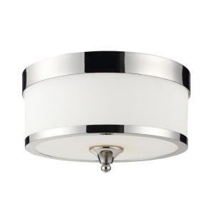 Cosmopolitan - 3 Light Flush Mount in Metropolitan Style - 13 Inches Wide by 8 Inches High