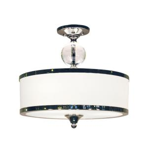 Cosmopolitan - 3 Light Semi-Flush Mount in Metropolitan Style - 15.5 Inches Wide by 14.25 Inches High