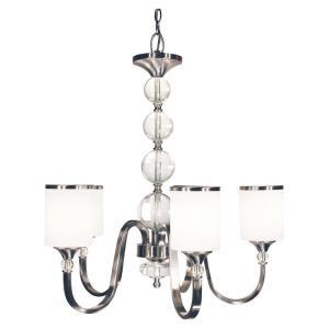 Cosmopolitan Chandelier 5 Light  Metal White  Glass