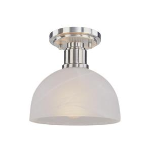 Chelsey - 1 Light Flush Mount in Art Moderne Style - 8 Inches Wide by 7.75 Inches High