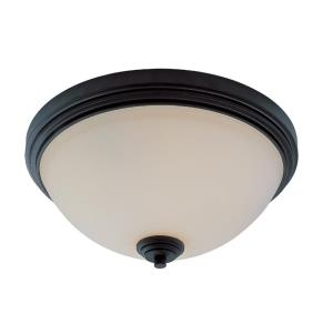 Chelsey - 3 Light Flush Mount in Utilitarian Style - 14 Inches Wide by 6.5 Inches High