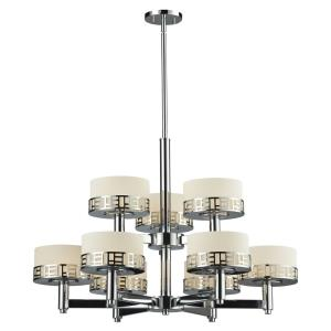 Elea - 9 Light Chandelier in Fusion Style - 31.75 Inches Wide by 22.75 Inches High