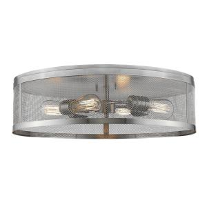 Meshsmith - 4 Light Flush Mount in Linear Style - 21.13 Inches Wide by 6 Inches High