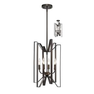 Marsala - 4 Light Pendant in Fusion Style - 12 Inches Wide by 20 Inches High