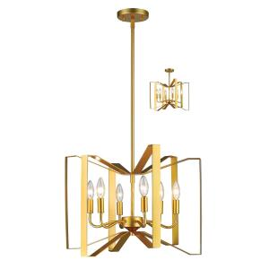 Marsala - 6 Light Pendant in Whimsical Style - 20 Inches Wide by 15 Inches High