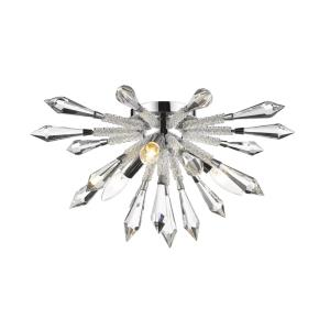 Soleia - 3 Light Flush Mount in Contemporary Style - 18 Inches Wide by 9.13 Inches High