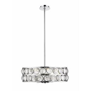 Eternity Chandelier 6 Light  Iron/Crystal