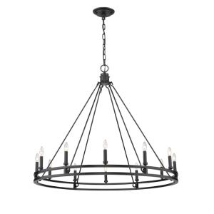 Dennison - 12 Light Chandelier in Rustic Restoration Style - 47.75 Inches Wide by 40.5 Inches High