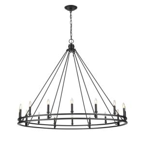 Dennison - 16 Light Chandelier in Crystal Style - 60.25 Inches Wide by 49.25 Inches High