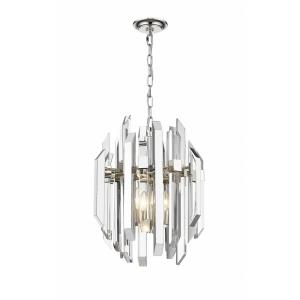 Bova - 4 Light Pendant in Crystal Style - 21 Inches High