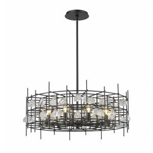 Garroway - 9 Light Chandelier in Fusion Style - 32 Inches Wide by 14 Inches High