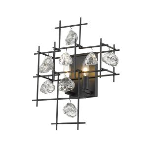 Garroway - 2 Light Wall Sconce in Fusion Style - 13.5 Inches Wide by 17.25 Inches High