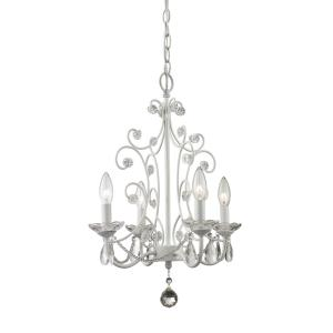 Princess Mini Chandelier 4 Light  Steel