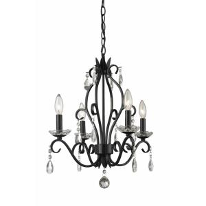 Princess - 4 Light Mini Chandelier in Metropolitan Style - 17.13 Inches Wide by 20.63 Inches High