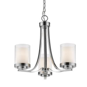 Willow - 3 Light Chandelier in Metropolitan Style - 16 Inches Wide by 17.5 Inches High