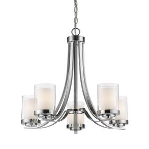 Willow - 5 Light Chandelier in Metropolitan Style - 25.25 Inches Wide by 22.25 Inches High