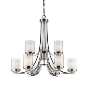 Willow - 9 Light Chandelier in Metropolitan Style - 31.25 Inches Wide by 29.25 Inches High