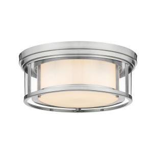 Willow - 3 Light Flush Mount in Metropolitan Style - 16 Inches Wide by 6.25 Inches High
