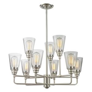 Annora - 9 Light Chandelier in Utilitarian Style - 29 Inches Wide by 53.5 Inches High