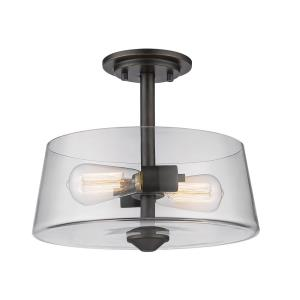 Annora - 2 Light Semi-Flush Mount in Restoration Style - 12 Inches Wide by 10 Inches High