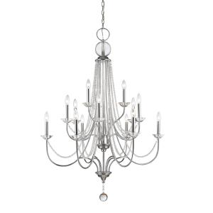 Serenade Chandelier 15 Light  Steel/Crystal