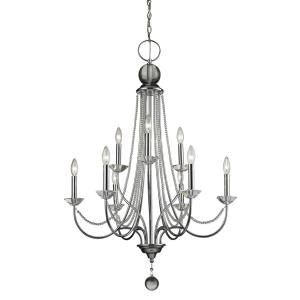 Serenade - 9 Light Chandelier in Metropolitan Style - 28.5 Inches Wide by 41 Inches High