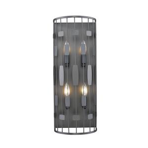 Almet - 4 Light Wall Sconce in Metropolitan Style - 9.25 Inches Wide by 24 Inches High