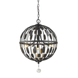 Almet - 5 Light Pendant in Metropolitan Style - 18.25 Inches Wide by 25.25 Inches High