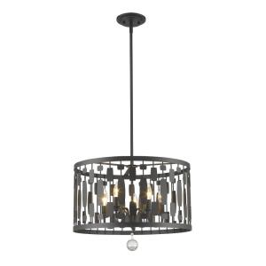 Almet - 5 Light Pendant in Metropolitan Style - 20 Inches Wide by 16 Inches High