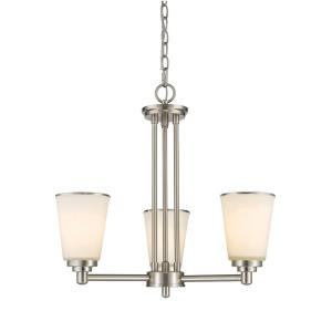 Jarra - 3 Light Chandelier in Fusion Style - 21 Inches Wide by 19.5 Inches High
