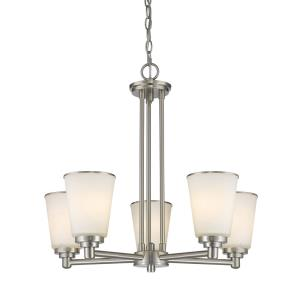 Jarra - 5 Light Chandelier in Fusion Style - 24 Inches Wide by 21.5 Inches High