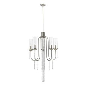 Siena - 5 Light Chandelier in Fusion Style - 26 Inches Wide by 90.63 Inches High