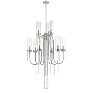 Siena - 9 Light Chandelier in Fusion Style - 30 Inches Wide by 90.63 Inches High